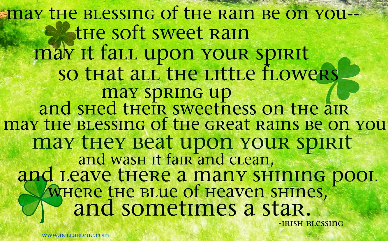 Rain Washed Blessings Inspired By The Irish Bella Bleue Healing