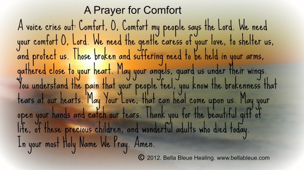 Prayer for Newtown, CT offering Comfort