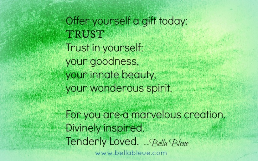 Trust Quote by Bella Bleue