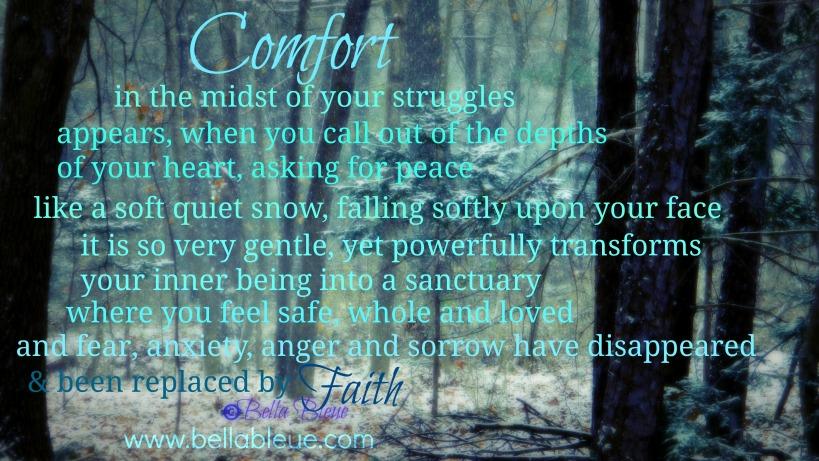 Prayer for Comfort by Bella Bleue