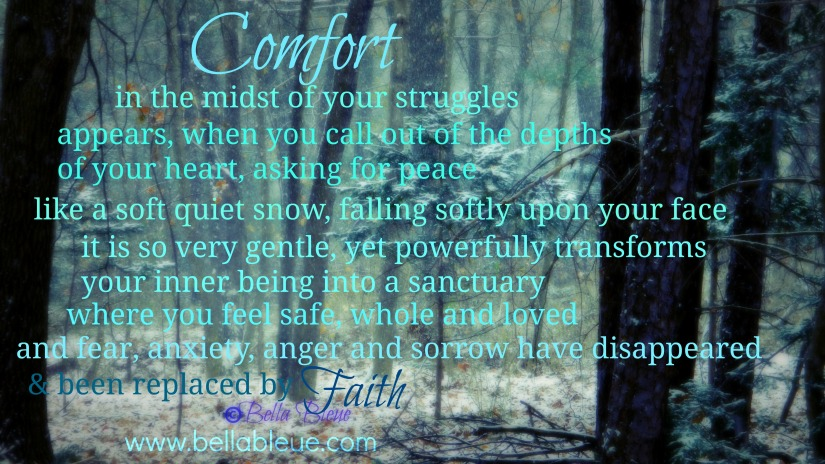 Prayer for Comfort by Bella Bleue